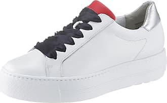 Paul Green rot Mit Weiß Weiß silberfarben Kontrastbesatz Plateausneaker rrqTdv
