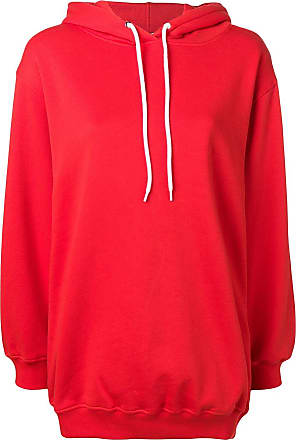 Msgm Red Oversized Sweatshirt Red Hooded Sweatshirt Oversized Msgm Hooded warHw5q4x