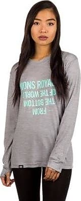 Mons Royale Marl Ftbotw Ls Tech Grey Boyfriend Merino Tee OOS7Fr