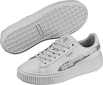 Gray Platform Silver puma 3 Sneaker Mädchen 5 Violet Puma Bling youth Basket pXqw66