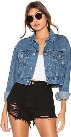 Wash Blue Superdown Cropped Mid Denim Tyler Jacket In WIEH29DY