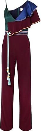 Pilotto Satin Et Bordeaux Asymétrique pantalon block Combi Peter En Color Cady TFdnqq61
