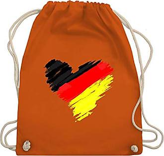Bag Wm110 Herz weltmeisterschaft Turnbeutel amp; Shirtracer Wm Gym Fußball Unisize Orange Deutschland 2018 Hp7wZqF