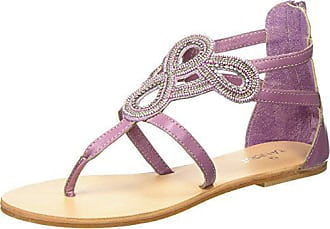 With Strap Femme Tantra Sandales 38 Sandals Beads purple Violet IBTFqEFwxn