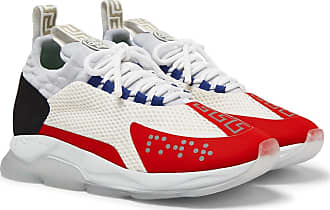 MeshNeoprene Suede Chainer And Versace Cross SneakersWhite vwm8yOPn0N