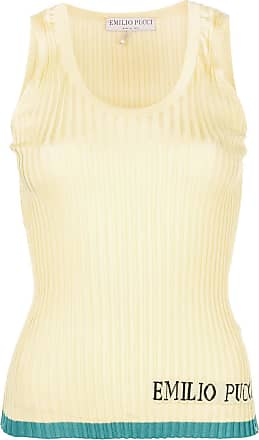 Logo Ribbed Colour Jaune Emilio block Pucci Vest Uqt04SIgw