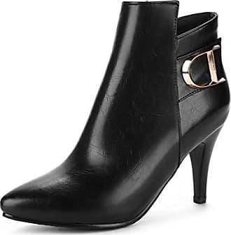 Damen Zehen 36 Schwarz Spitz Stiefel Ankel Stilettos Boots Knöchel Hoch Eu Easemax Mit dgfAqPwd