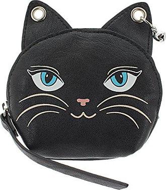 Feline Size Geldbeutel Purse Schwarz One 1460 schlüsseltasche Feminine Banned qvPawA