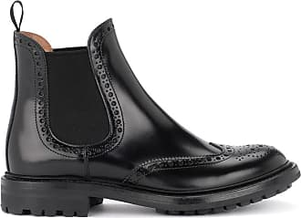 Noir Modèle Chaussure Lacée Cuir Aura En Churchs AvTYwn
