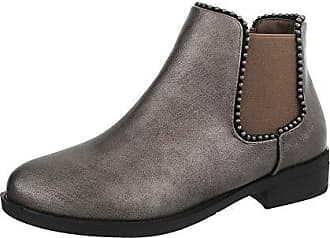 Synthetik Ital Stiefeletten Bronze Chelsea Boots Gr39 design Damenschuhe lc35TuF1JK
