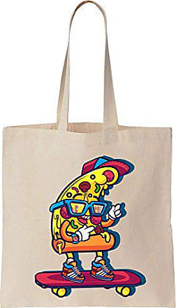 Finest Canvas Prints Bag Tote Of Pizza Cool Slice Skateboarding Cotton 8OywmvNn0P