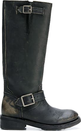 Boots Ash high Knee Noir Distressed 0xnFxt1