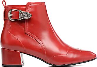 Voor Sarenza 2 Made Boots En By Urbafrican Rood Enkellaarsjes Dames A50wqF0f