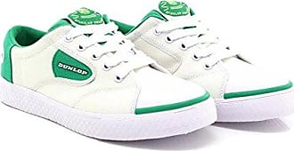 11 Dunlop Flash Uk White Retro Adult Green Trainers dCWoxrBe