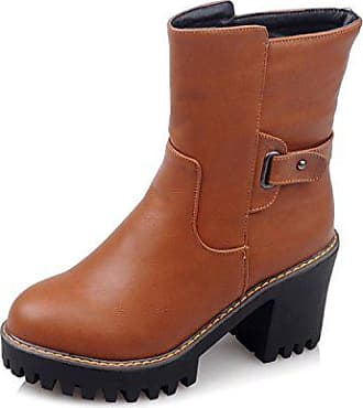 Heel Dick Stiefel Warm Unten Schuhe Grobe GroßGelb38 Farbe High Fym Dyf ilZuwOkXTP