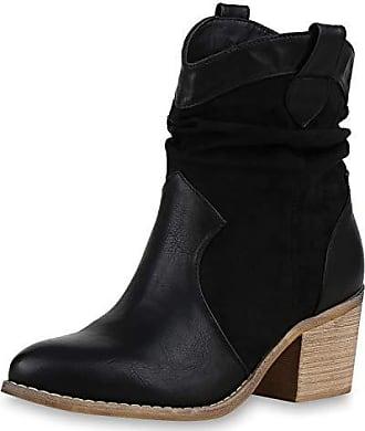 Vita Schuhe Scarpe Cowboy Holzoptikabsatz Schwarz 174690 Western Stiefeletten 40 Damen Boots PwSq0xZdS