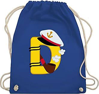 Gym Bag Schifffahrt Turnbeutelamp; Royalblau Wm110 AnfangsbuchstabenD Shirtracer Unisize OywPNvnm80