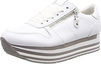 Nova Eu Schuhmanufaktur bianco Schmenger Kennel Femme 37 Grau amp; weiß Baskets Sohle qPgESt4