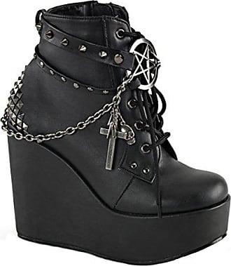 Schwarz Gr Demonia Booties heels Vegan Poison Higher 101 Damen 37 Wedge Cz8wc6q