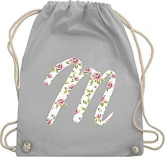 Shirtracer amp; Gym Bag Turnbeutel M Anfangsbuchstaben Hellgrau Unisize Rosen Wm110 rnrRaqwC