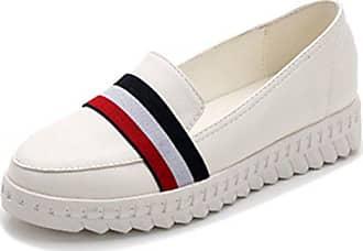 39 Mit Damen Easemax Slip Runde Weiß Zehen Fashionable On Sneakers Plateau Eu Durchgängiges Keilabsatz 1zz7qxTAB