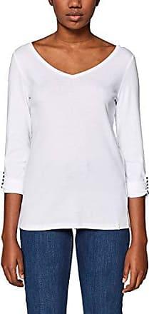 019ee1k012 Esprit Larga 100 Mujer Camisa Large Manga white Blanco dgrxgq