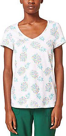 white shirt Large 058ee1k041 Esprit Femme Multicolore T 100 wpvnq4B