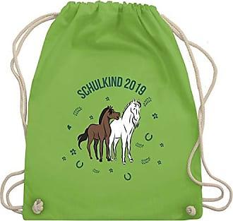 Einschulung Pferde Gym Schulkind Wm110 amp; Turnbeutel Unisize Bag 2019 Shirtracer Hellgrün H7dwtH