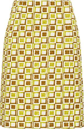 Imprimée Vert Jupe Jupe Crayon Prada Prada Crayon TnCzz1fWR