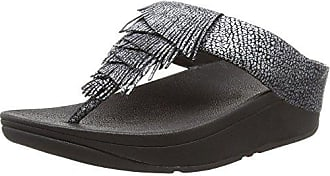 Noir black Femme Bout Eu Fringed Fitflop 001 Sandales Ouvert 42 Cha nW6Yp0qwa