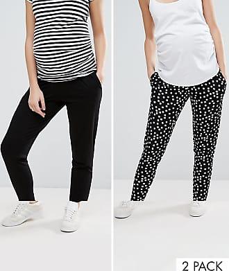 Mehrfarbig Asos Schwarz Maternity Jersey karottenhosen Gepunktete Design2er set In 8OPwn0k