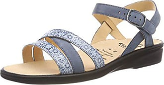 Abierta Cuero Mujer Talla 5 De Color Azul Sandalias 202822 41 Eu Punta Con Ganter XFq00