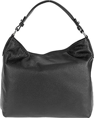 Handtasche Black 027811 34x30x14cm Leder Abro Damen Adria 37 qnSPwX1z8