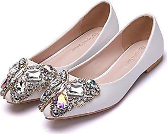 Schuhe Flache Leit Tie Wies Schuhe36Weiß Casual Dünne Bow Damenschuhe 8XNPkwn0O