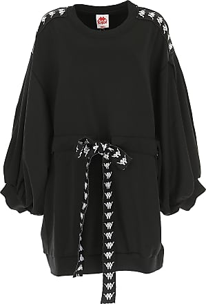 Kontroll Sale Felpa 42 40 Nero Polyester 2017 Donna Kappa On ROI7qOd