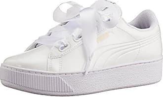 P Vikky White Platform Damen Weiß Ribbon Puma Sneaker 2 vTE5Inqx0w