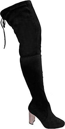 Schenkelhoch By Damen Hoch Stiefel Absatz Boutique Schwarz 8 Metallisch Overknee Wildleder Sapphire Block Uk Grob Saphir 4xpYWR