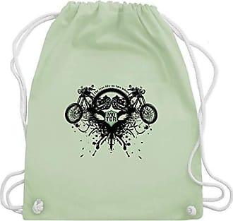 Shirtracer Pastell amp; Wm110 Biker Grün Bag Gym Motorräder Life Turnbeutel Unisize True RRq1Hr