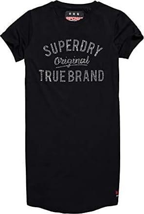 Slim Dress 02a 12 Medium black Para Vestido Mujer Superdry talla Del 0 Negro Tshirt Fabricante Embellished F1wtUWq5