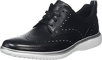 Eu Hombre 2fast Dressport De Zapatos Shoe 5 Cordones Marathon Rockport Derby Para Black 40 Negro silver U1zAWqZx