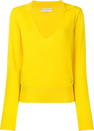 Jumper Emilio neck Pucci V Cashmere Jaune ngn1YRqwZ