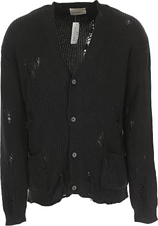 2017 M Laneus Black Xl L S Cardigan Sweater Cotton Men's twXr0qX