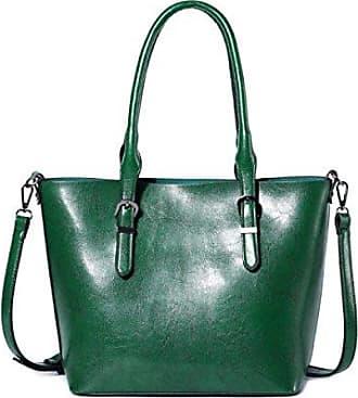 Bfmei Wachs Wasserdicht green Handtasche Damen Handtaschen Öl onesize Schulter rIPErz6n