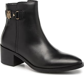 Th Mid Heel Leather Buckle Hilfiger Tommy Boot qBwPHn