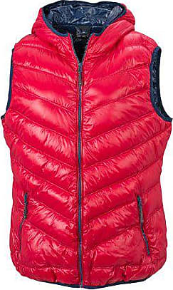 Femme Ladies Fabricant Nicholson red amp; James Rouge navy Blouson Daunenweste Vest Down Large taille Hp01nBqt