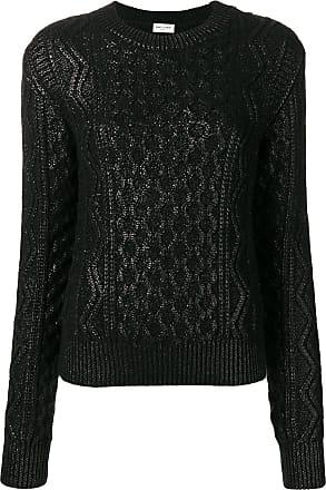 Sweater Knitted Aran Saint Noir Lamé Laurent 4pAqWTI