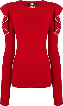 Sweater Sleeve Ruffle Karl Lagerfeld Rouge tEAqqz