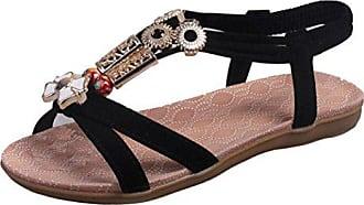 eu Hunpta Frauen 40 Mode Leder Schwarz Sandalen Damenschuhe Boho gzp4Yzx1wq