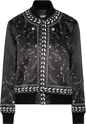 Panther Satin Black Woman Bomber Size 40 Givenchy Jacket Printed Duchesse 56STqHSIxw