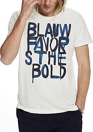 Wash 05Medium Blauw Ams Herren Vintage Tee shirt T Text Regul Prints Soda With Effect And Beigeecru Scotchamp; tsdhQrC